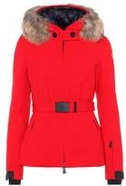 Moncler Bauges fur-trimmed ski jacket