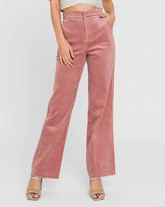 Express Endless Rose High Waisted Corduroy Wide Pants