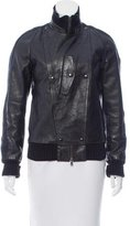 CNC Costume National Leather Bomber Jacket