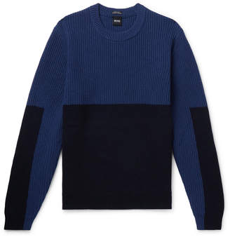 HUGO BOSS Panelled Wool Sweater