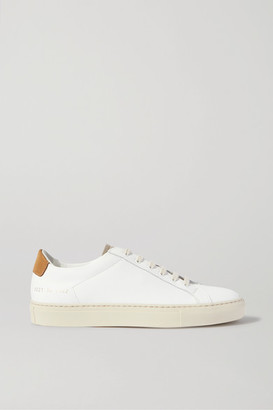 Common Projects Retro Low Suede-trimmed Leather Sneakers - White