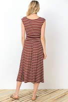 Gilli Wine Stripes Dress