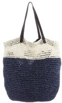 By Malene Birger Leather-Trimmed Straw Tote
