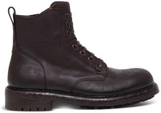 Dolce & Gabbana Bernini Boots In Brown Leather