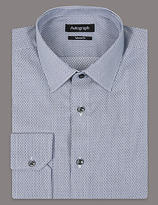 Autograph Supima® Tailored Fit Pure Cotton Striped Shirt