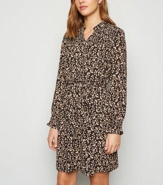 New Look JDY Floral Shirred Mini Dress