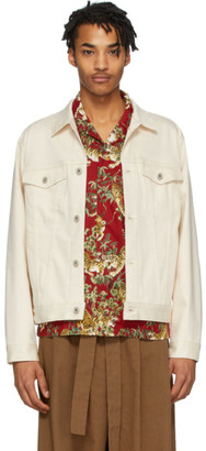Naked and Famous Denim Off-White Denim Natural Seed Jacket