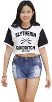 Me Women's Slytherin Quidditch Harry Potter Crop T-shirt