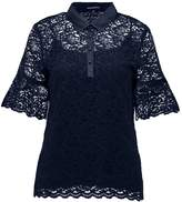 Banana Republic Blouse preppy navy