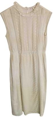 Hoss Intropia Ecru Cotton Dress for Women
