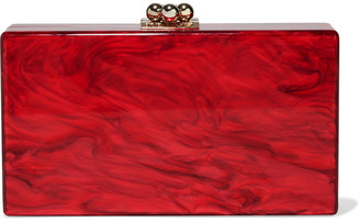 Edie Parker Jean Marbled Acrylic Box Clutch