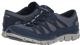 Skechers Gratis Strolling (Navy) Women's Lace up casual Shoes