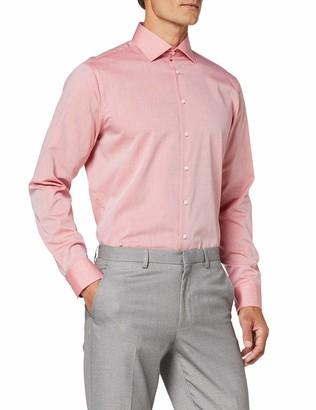 Seidensticker Men's Einfarbiges Hemd Mit Extra Tragekomfort Und Kent-Kragen Shaped Fit Langarm Formal Shirt