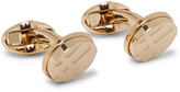 Burberry Checked Gold-tone Cufflinks - Gold