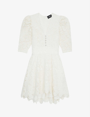 The Kooples Flared guipure-lace dress