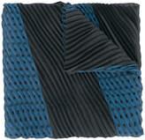 Emporio Armani two-tone pleated scarf