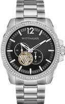 Wittnauer Men's Steel Bracelet & Case Automatic Black Dial Analog Watch WN3029