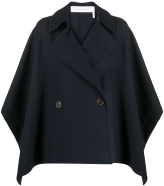 See by Chloe Double-Breasted Cape Coat