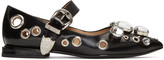 Toga Pulla Black Single-buckle Ballerina Flats