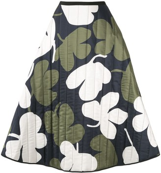 Lee Mathews A-line floral print skirt