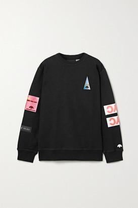 Adidas Originals By Alexander Wang Flex2club Oversized Appliqued Cotton-jersey Sweatshirt - Black