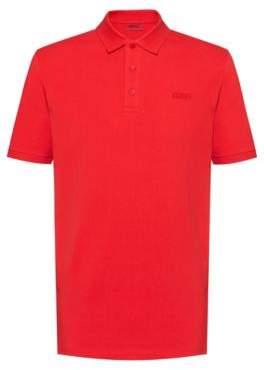 HUGO Reversed-logo polo shirt in cotton pique