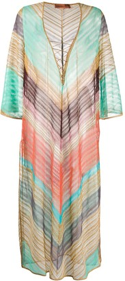 Missoni Mare Striped Loose-Fit Kaftan Dress