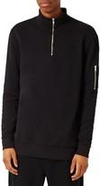 Topman Men's Ma1 Zip Sweatshirt