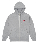 Comme des Garcons Zip Up Hoodie With Red Heart