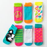 Pink Cookie 7-pk. dog patterned no-show socks - girls