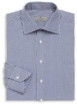 Canali Gingham Cotton Long Sleeve Shirt