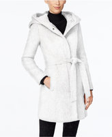 Cole Haan Belted Hooded Walker Coat