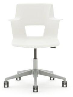 Steelcase Turnstone Shortcut Task Chair Frame Finish: Platinum Metallic/Arctic White