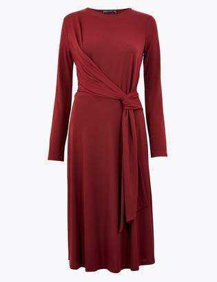 Marks and Spencer Drape Fit & Flare Midi Dress