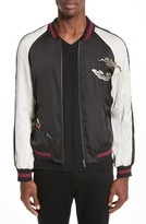 The Kooples Men's Embroidered Two-Tone Bomber Jacket