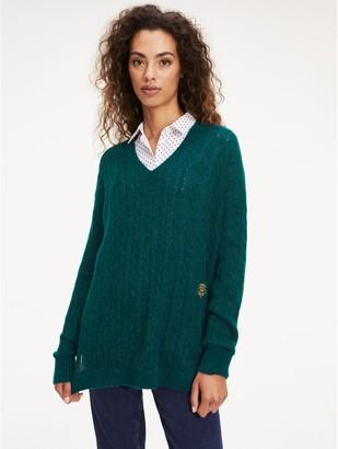 Tommy Hilfiger Cableknit V-Neck Sweater