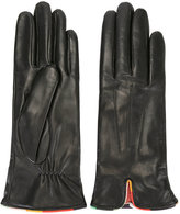 Paul Smith leather gloves - women - Silk/Leather/Cashmere/Merino - M