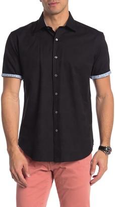 Bugatchi Shaped Fit Short Sleeve Button-Down Shirt