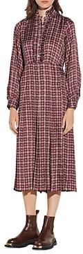 Sandro Thina Printed Midi Dress