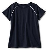 Lands' End Women's Short Sleeve Raglan Tee-Black