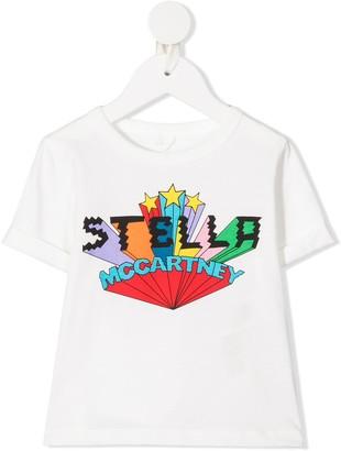 Stella McCartney Kids logo print cotton T-shirt