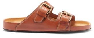 Isabel Marant Lennyo Double-strap Leather Slides - Tan