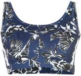 Marc Cain canary print cropped sports top