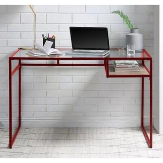 Latitude Run Chisom Glass Desk