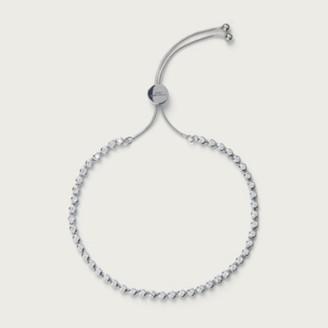 The White Company Set Stone Friendship Bracelet, Silver, One Size