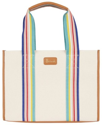 Harrods Dulwich Stripe Shoulder Bag