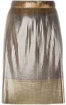 Golden Goose Deluxe Brand Women's Silver/gold Polyester Skirt.
