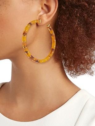 Gas Bijoux Helios 24K Goldplated & Acetate Studded Hoop Earrings