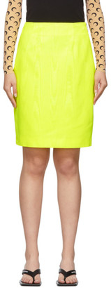 Marine Serre Yellow Fitted Skirt