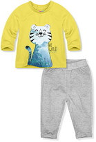 Yellow Cat Tee & Gray Heather Pants - Infant & Toddler